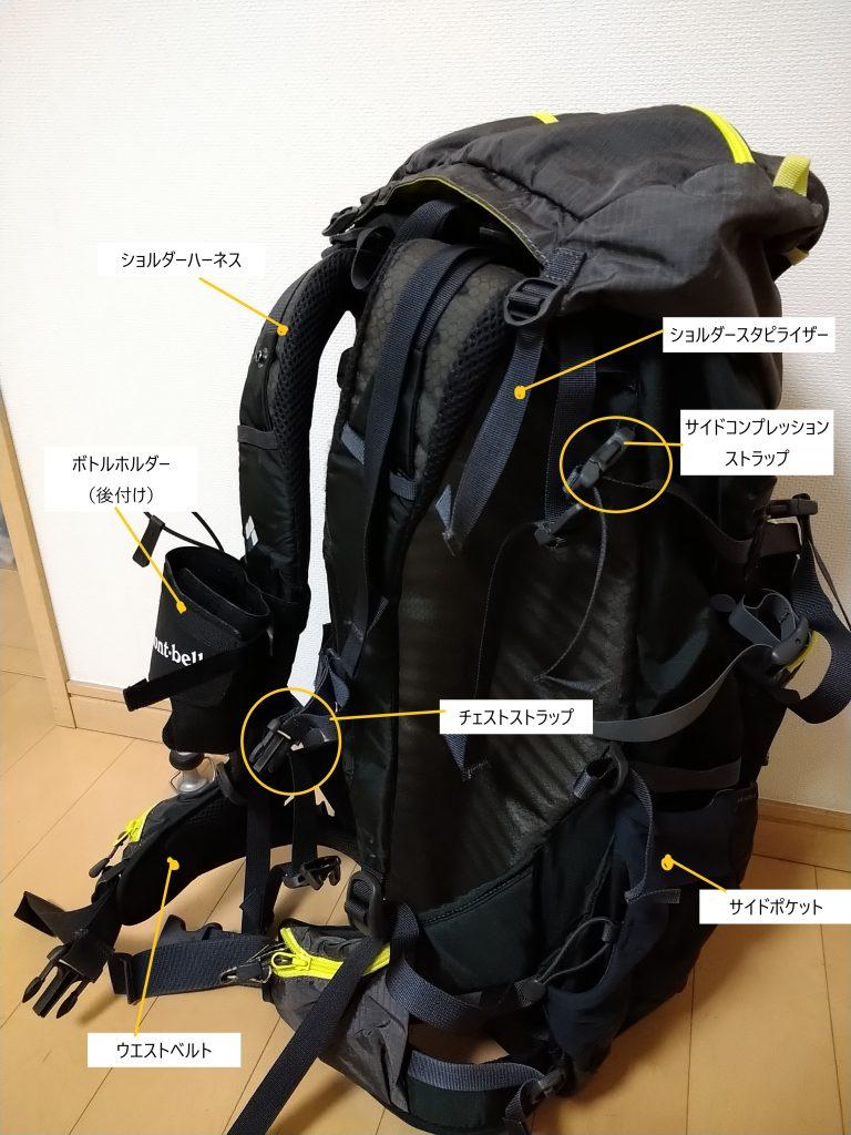 登山リュック(バックパック/ザック)の便利な機能