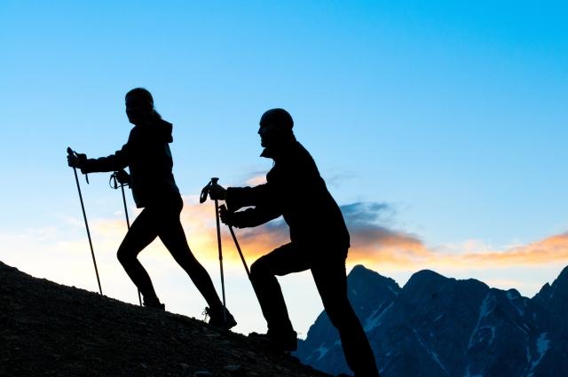 登山のトレッキングポール