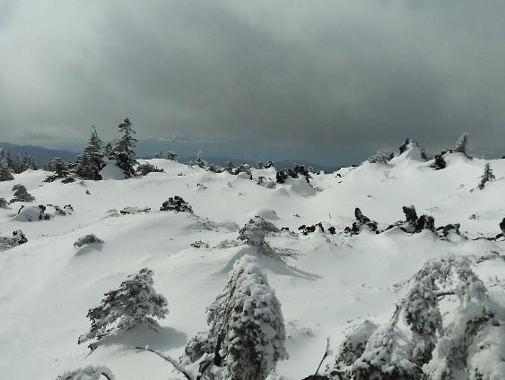 雪山の様子