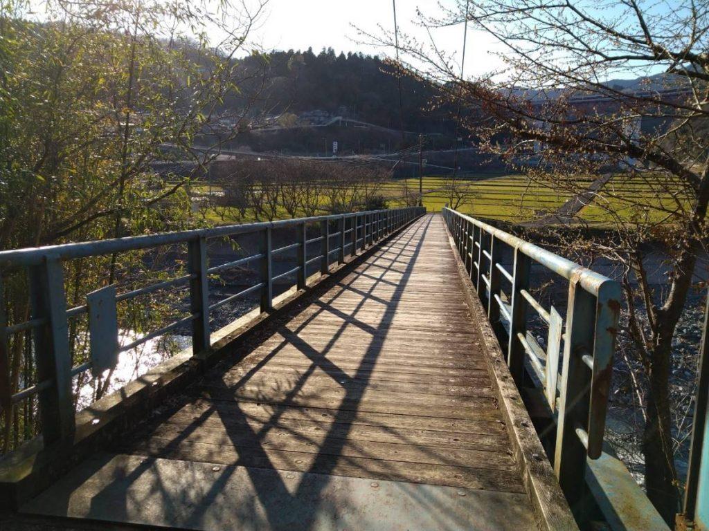 吊り橋渡る前。渡っている最中は撮影する余裕がない