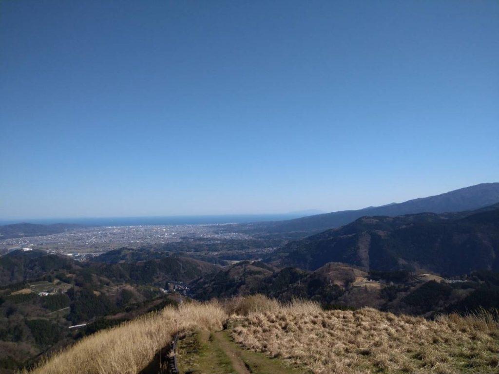 景色を楽しみながら下山ができる