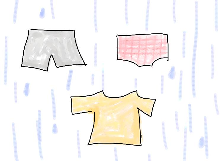 濡れた服を着ているような感覚