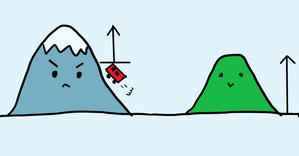 登山経験者は等高線や高低差のほうを気にする