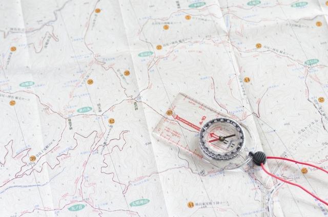 登山コース、ルートを確認する