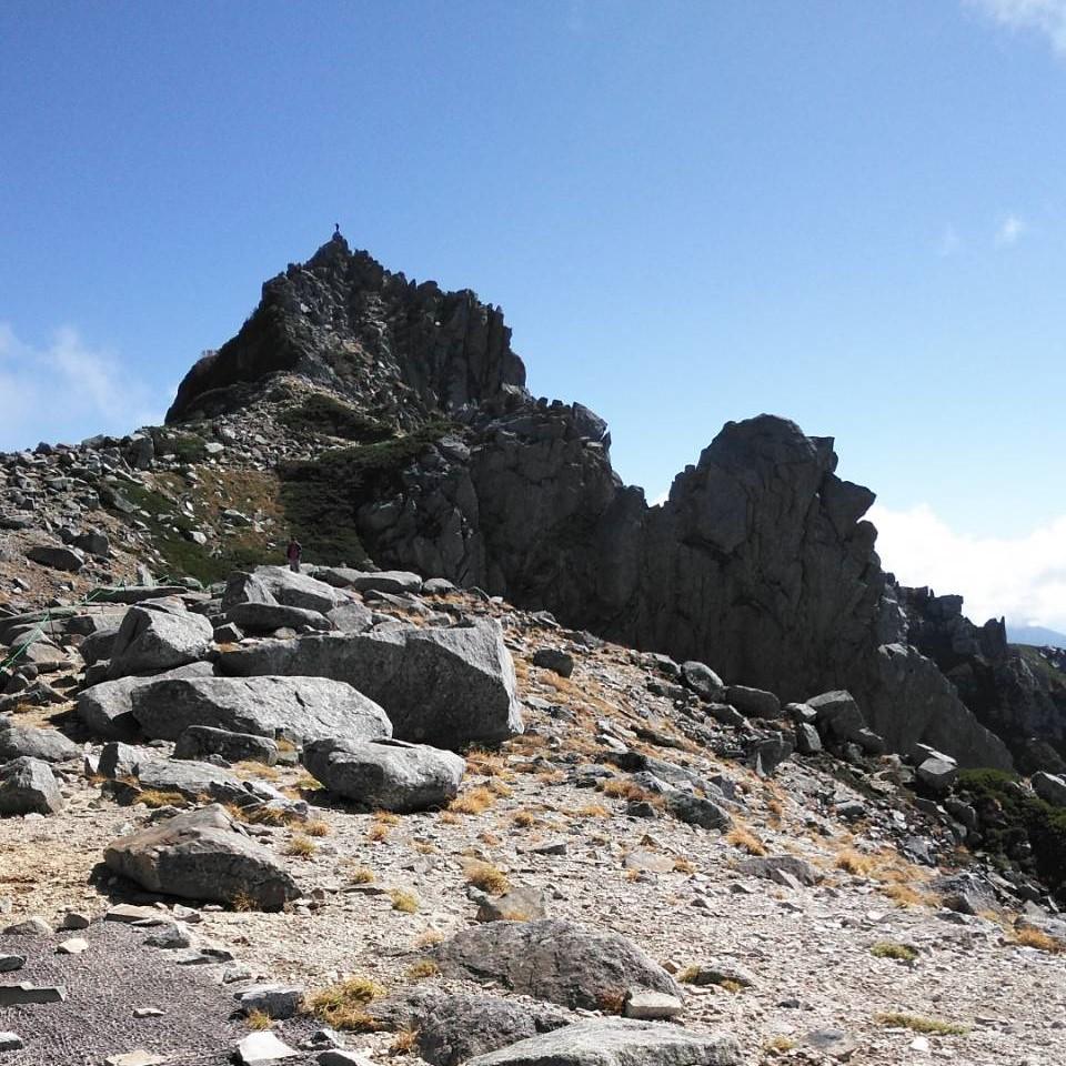 宝剣岳への道