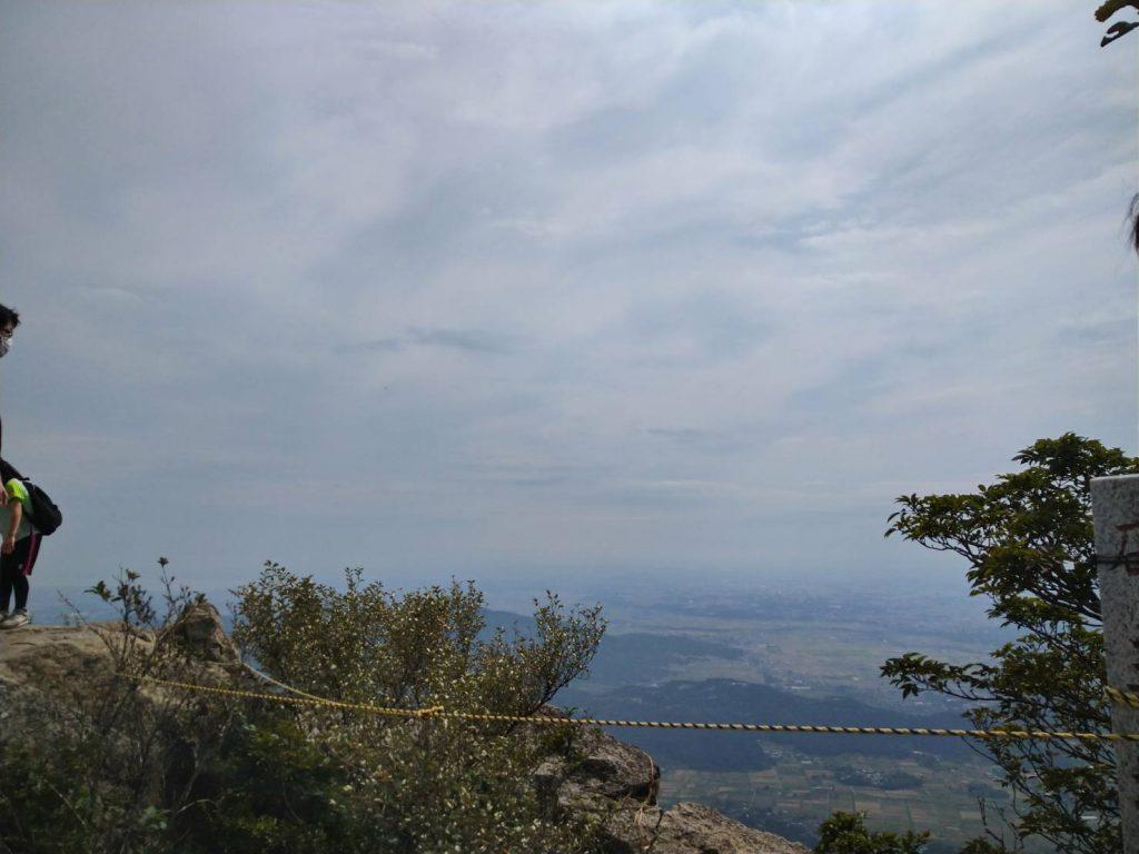女体山頂上からの景色