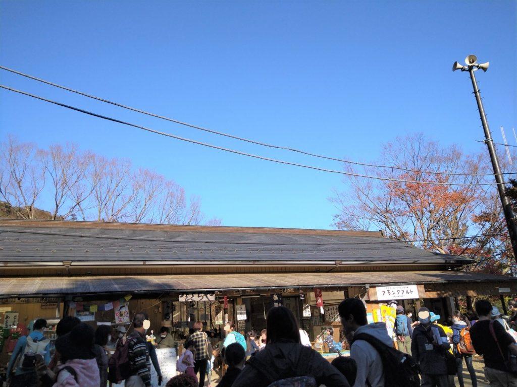 阿夫利神社付近の飲食店の混雑状況