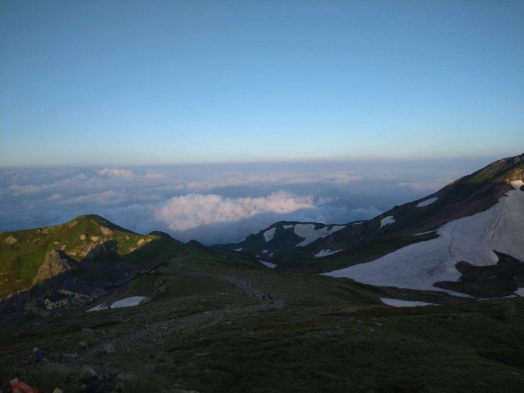 白馬山荘から見る景色
